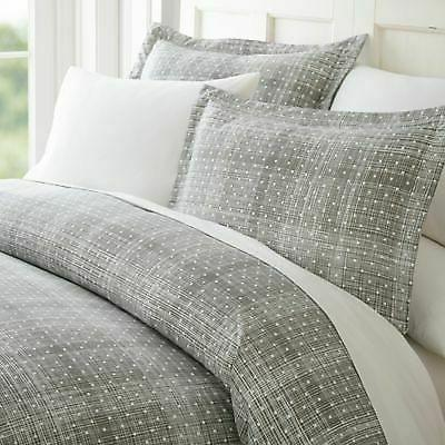 polka dot duvet cover set gray size