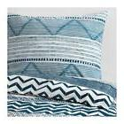 Ikea PROVINSROS White & Blue Twin Duvet Cover & Pillowcase S