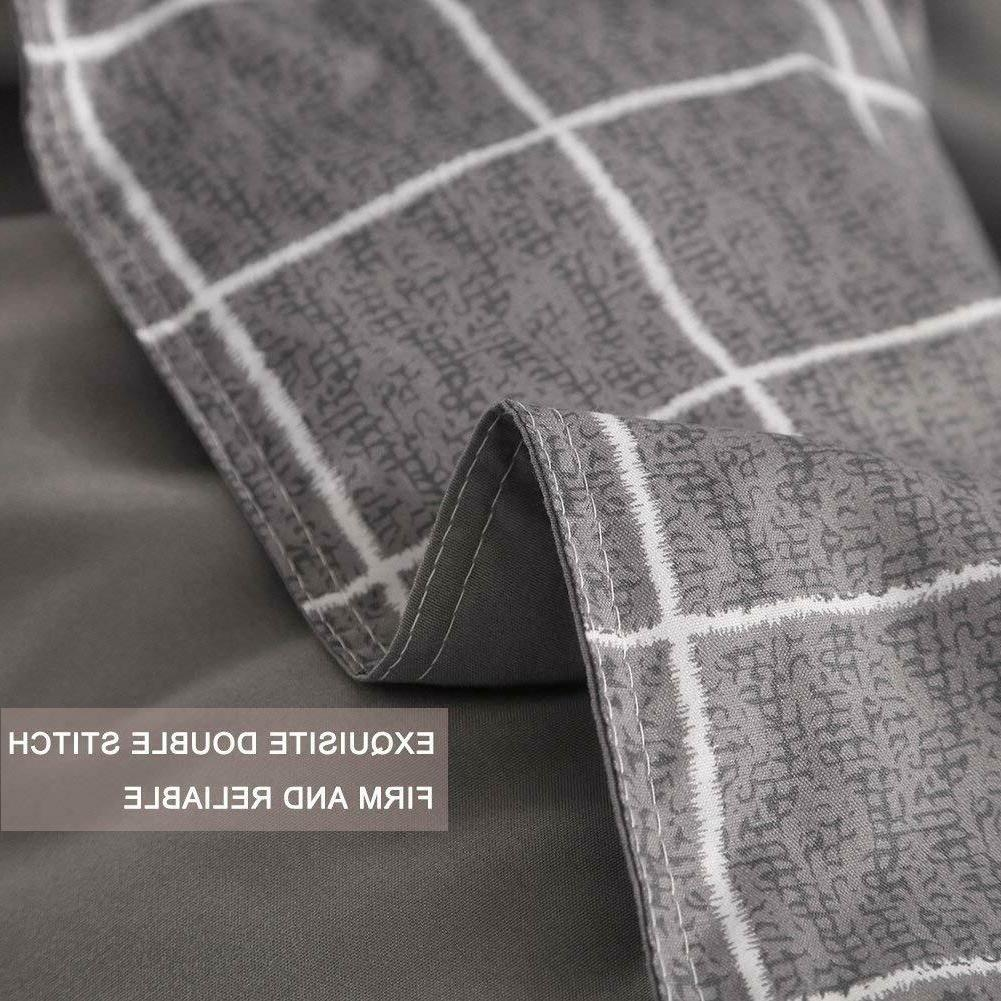 NANKO Cover Set Gray, 1200 TC Hypoallergenic Microfi
