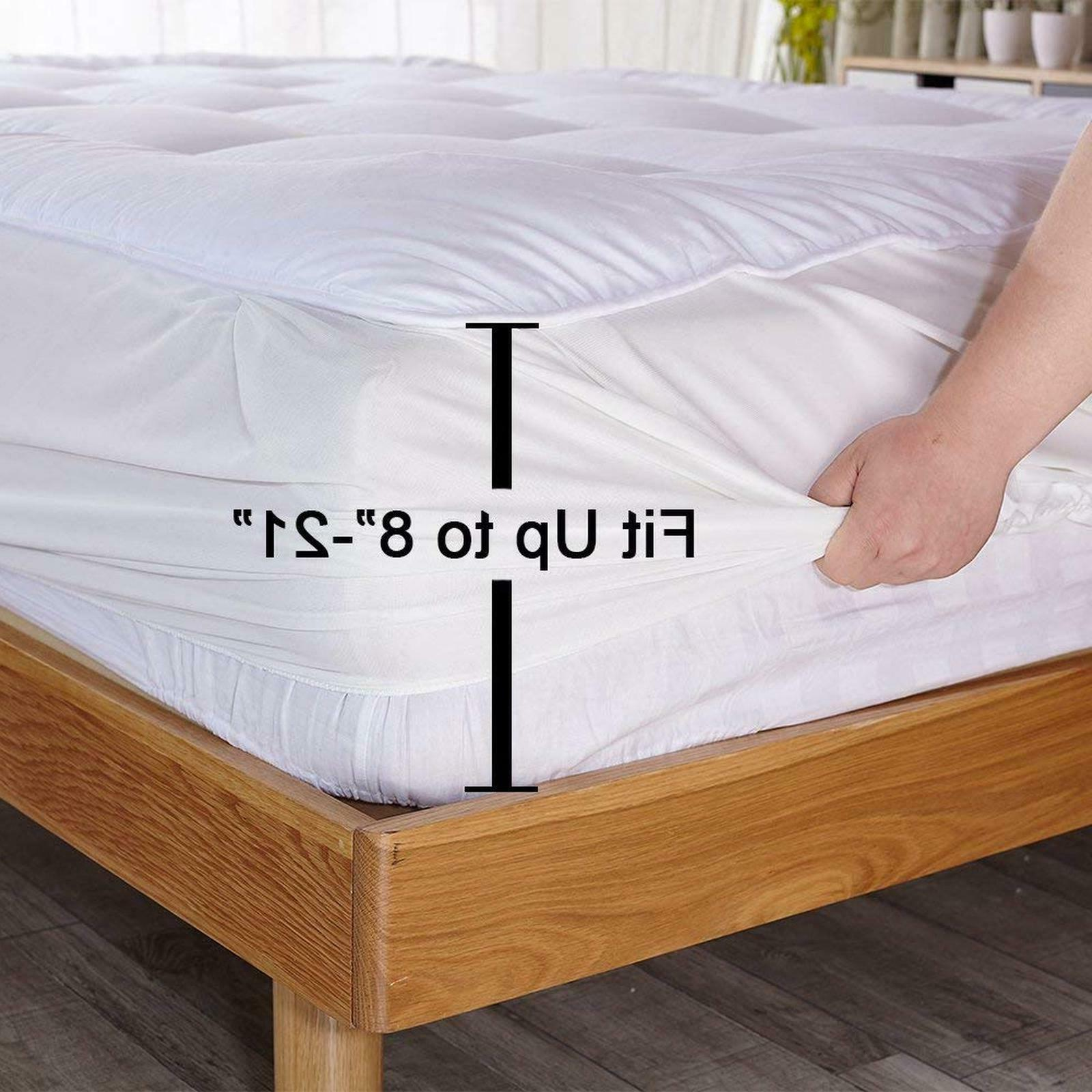 Queen Cover Luxury Bed Pillow Topper
