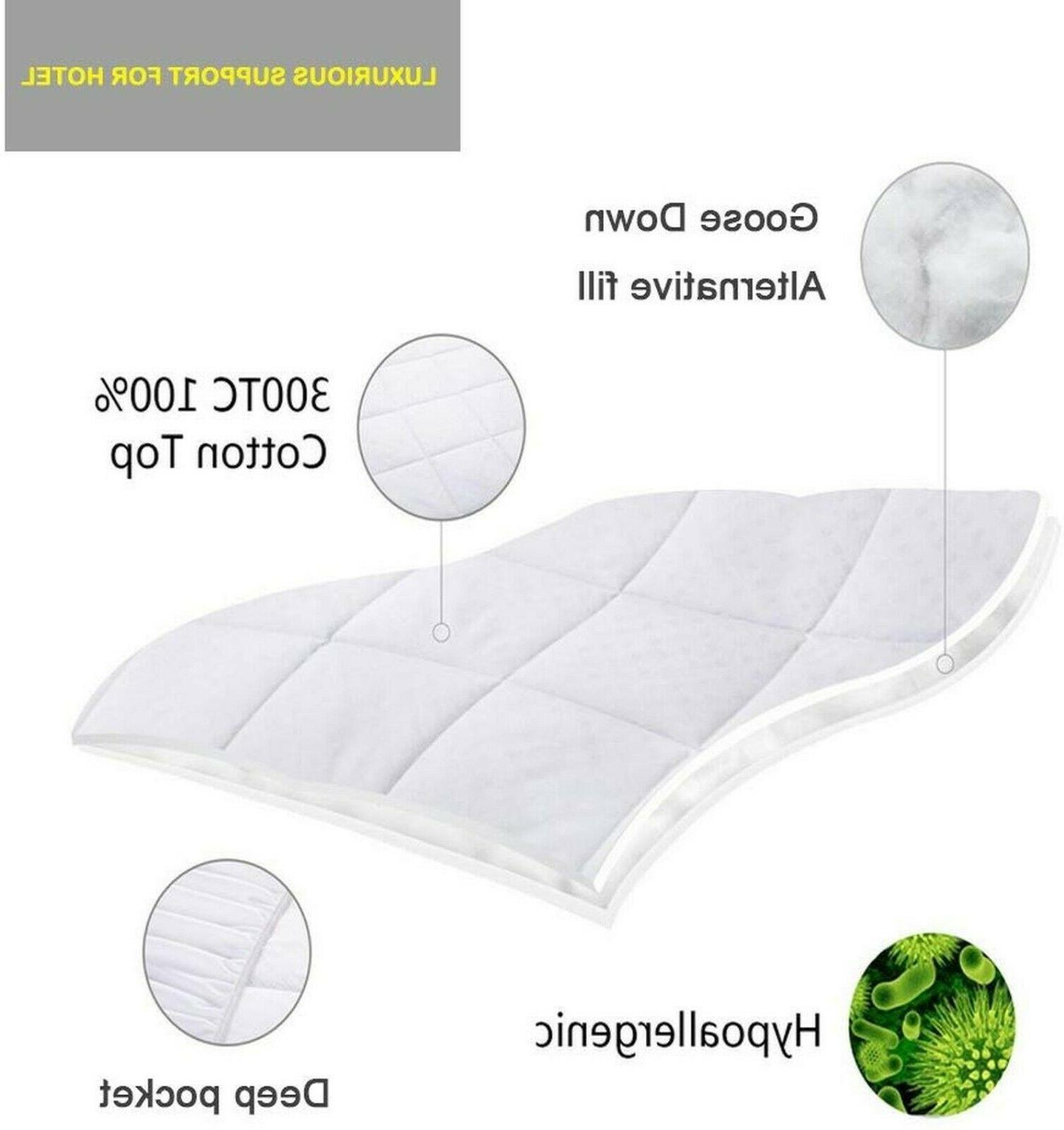 Queen Size Cover Bed Pillow Topper
