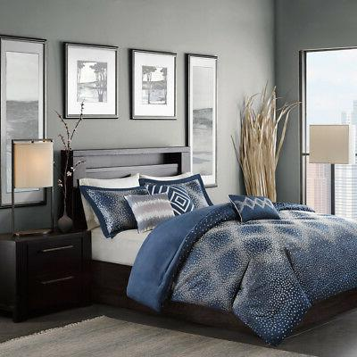 Madison Park Quinn 6 Piece Duvet Cover Set