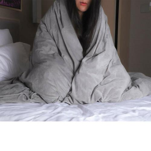 Removable Duvet Cover for Weighted Blankets Grey