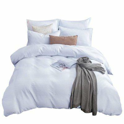 Merryfeel Sand Washed Cotton Waffle Weave Duvet Cover Set -