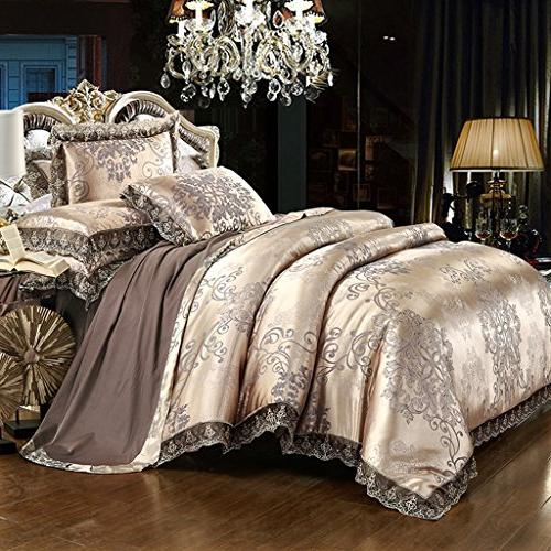satin embroidery duvet cover set