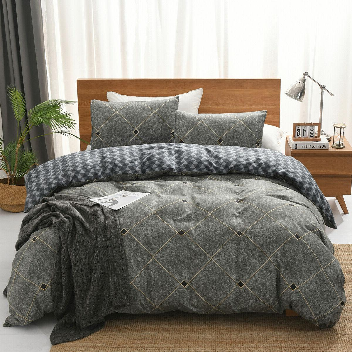Striped Cover Sets Bedding For Mens Kids 7 colours available