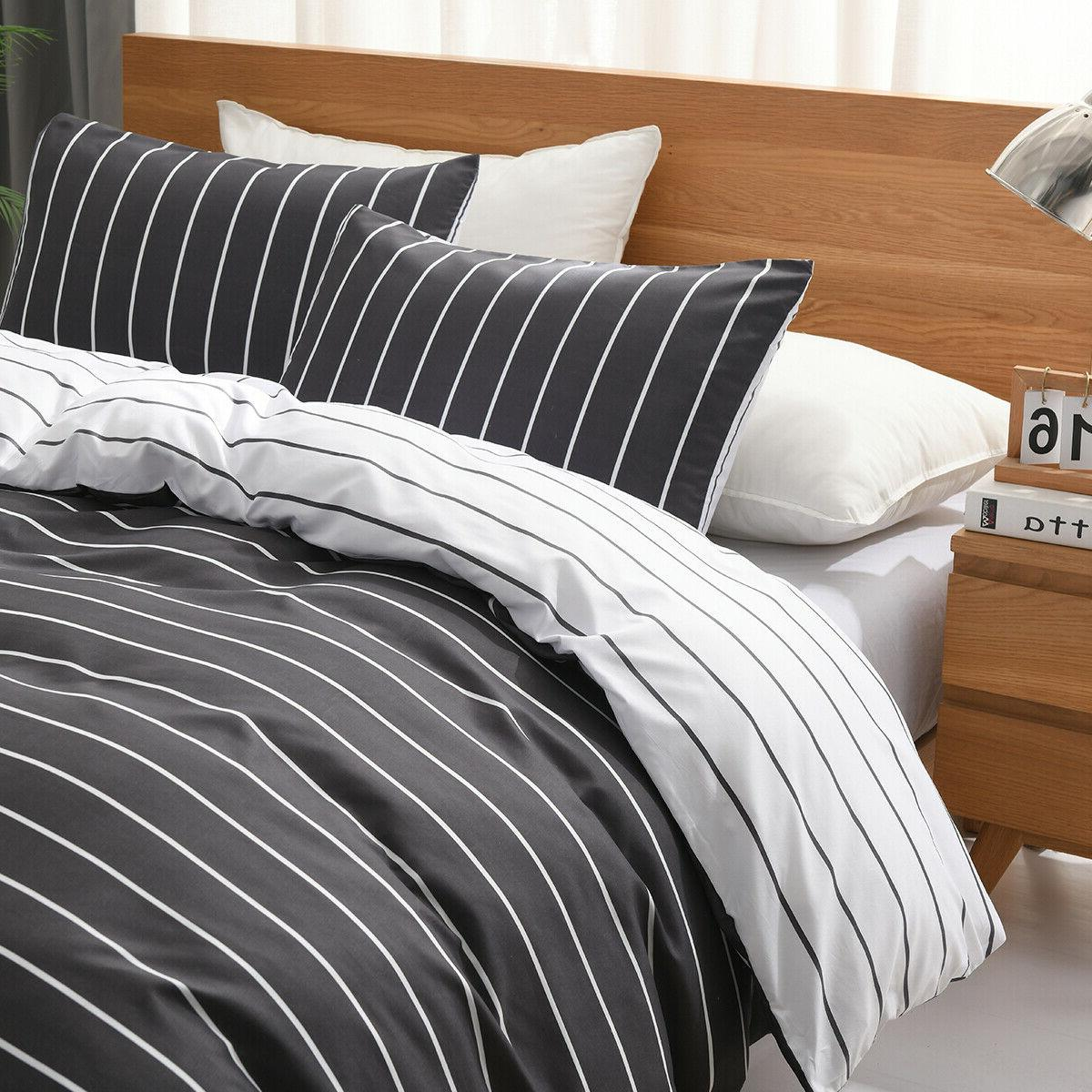 Striped Cover Sets Bedding Boys Kids Bed colours available