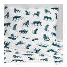 Ikea URSKOG Twin Duvet Cover & Pillowcase Set, Blue & White