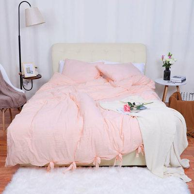 Washed Cotton Bedding Comforter Pillowcase Bed