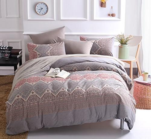 washed cotton classical pattern duvet