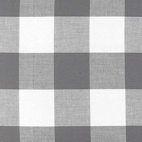 Wake Washed Cotton Set, Gingham Plaid Geometric Checker Printed and Bedding,