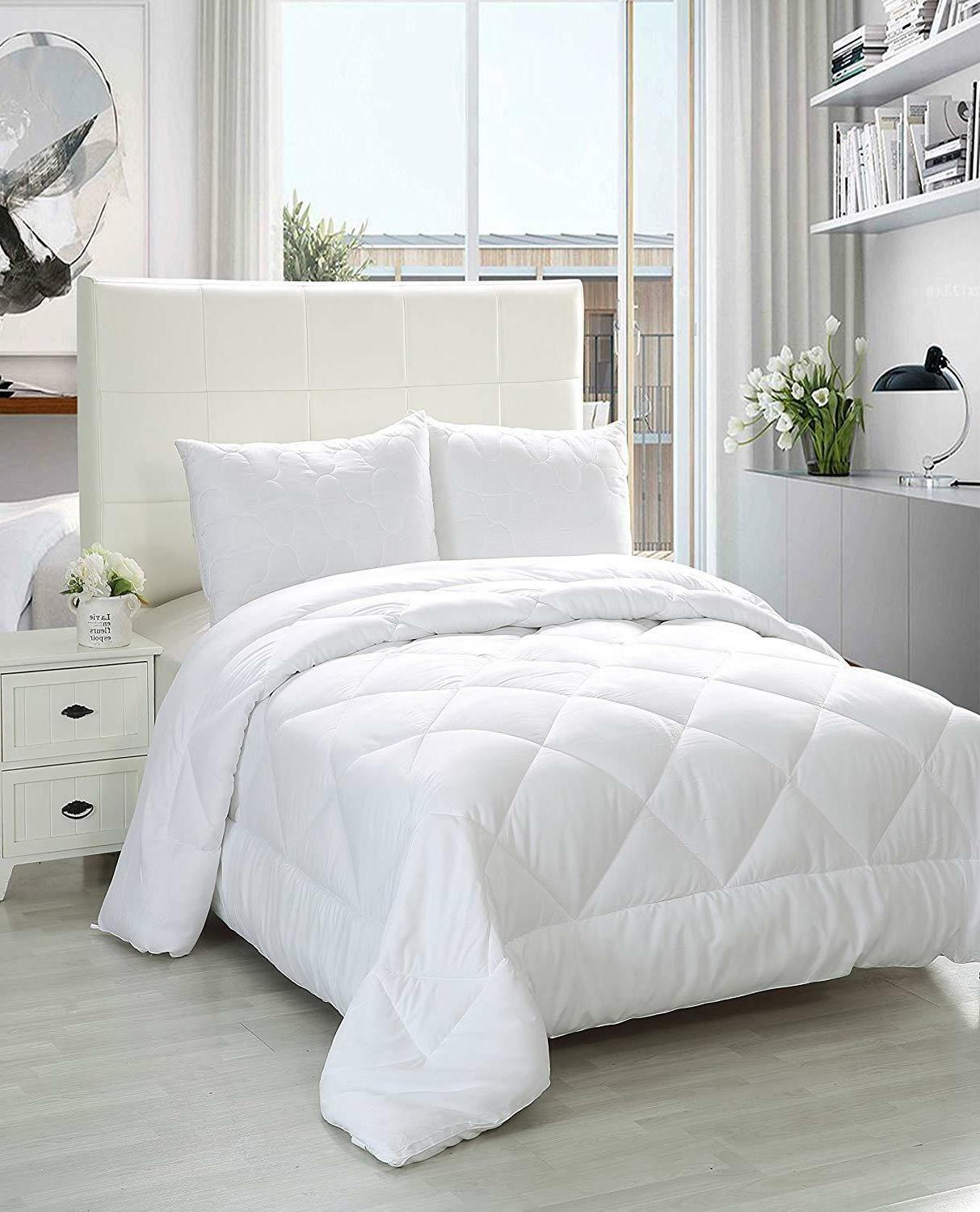 White Queen Size Comforter Duvet Insert Cover Quilted