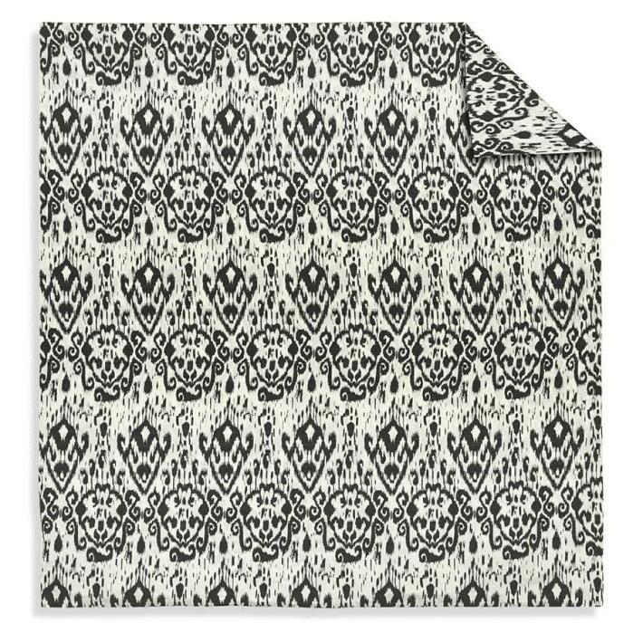 Williams Sonoma Home Printed Ikat Sateen Cover, Black, NEW