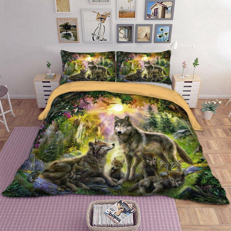Wolf Bedding Animal Happiness Pillow Sizes