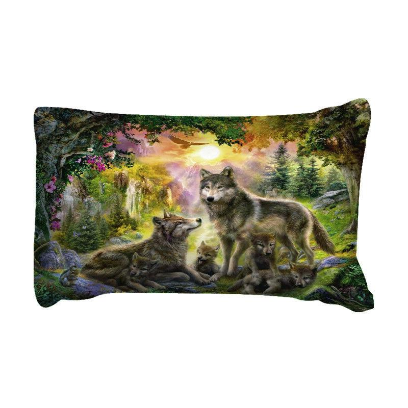 Wolf Animal Pillow Case Bed Sizes