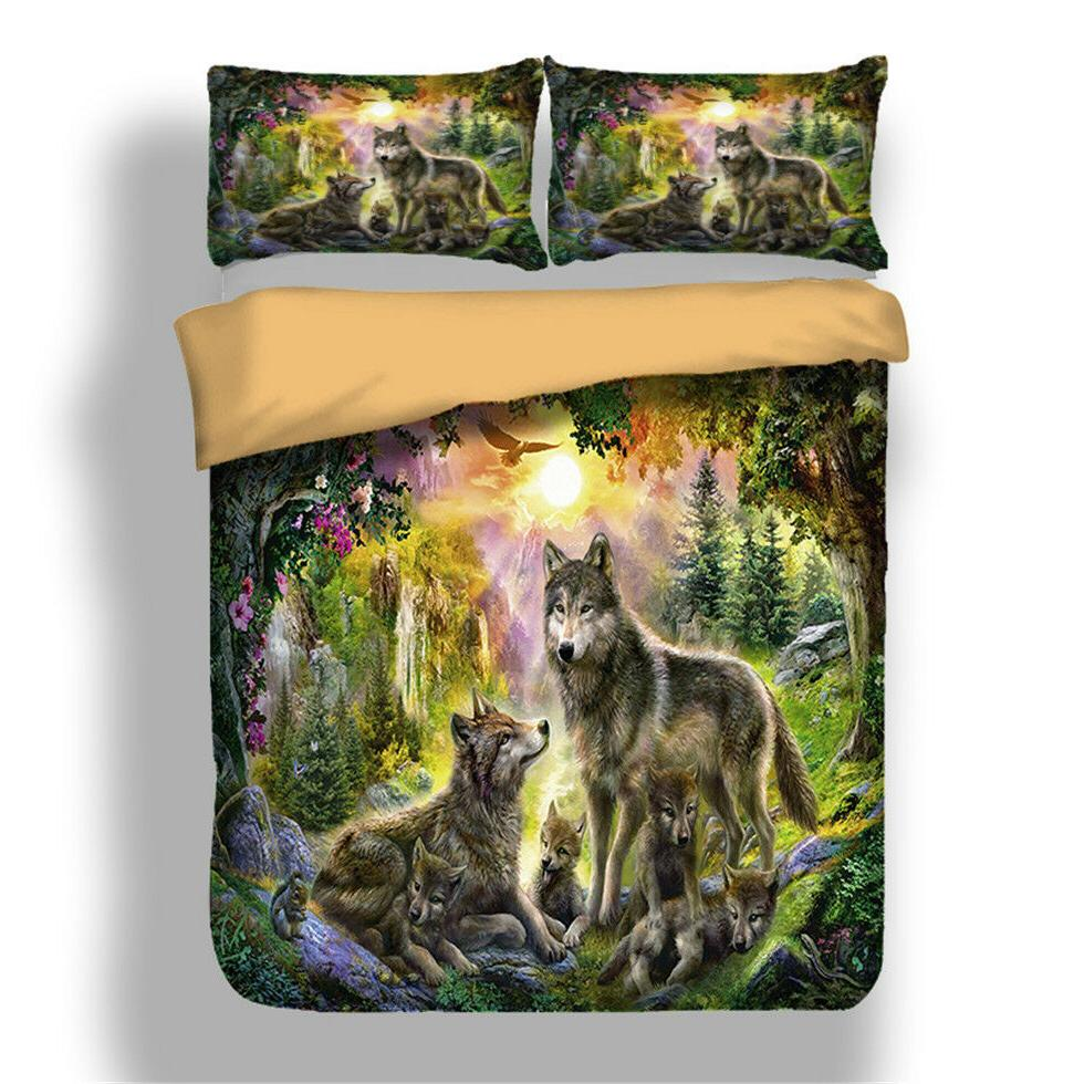 Wolf Bedding Animal Pillow Bed Sizes