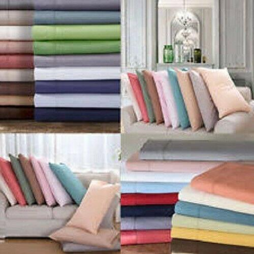 Zipper Closer Duvet Cover/Fitted/Flat/Pillowcase 1000 TC 100