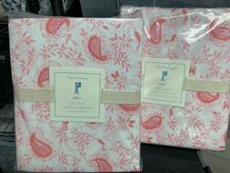 POTTERY BARN kids LARA Duvet Cover & Sheet Set Pink Full F N