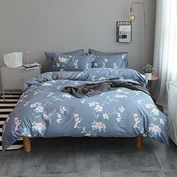 VM VOUGEMARKET Floral Duvet Cover Sets Full Queen,100% Cotto