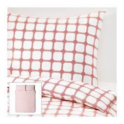 Ikea Lisel Queen Duvet Cover and Pillowcases, Red