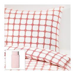 Ikea Lisel Twin Duvet Cover and Pillowcase, Red