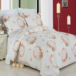 Liza 100% Cotton Duvet Cover 3-Piece Floral Duvet Cover Set