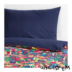 Ikea Lustigt Duvet Cover and pillowcase Twin Multicolor NEW
