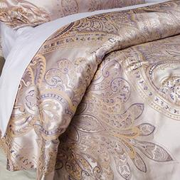 Luxurious Duvet Cover Sets Cotton Rich Silky Woven Jacquard