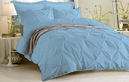 Luxurious & Hypoallergenic 1 Piece Pinch Pleated Duvet Cover