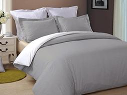 Bed Alter Luxurious Reversible Duvet Cover with Zipper Closu