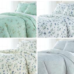 Luxury 100-percent Cotton Sateen Floral Printed  Duvet Cover