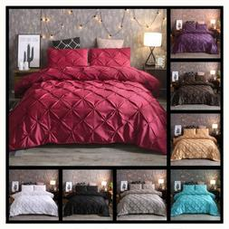 Luxury Style Pinch Pleat Duvet Cover Set Hypoallergenic Supe