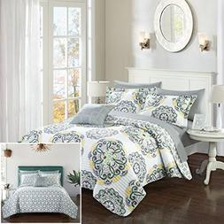 Chic Home Madrid 3 Piece Quilt Set Reversible Geometric Meda