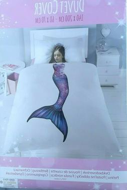 Mermaid Duvet Cover with Matching Pillowcase – 100% Cotton