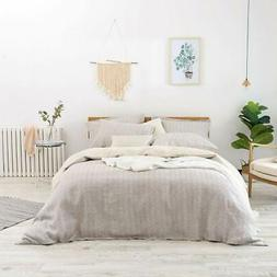 Merryfeel Pure French Linen Duvet Cover Set,100% French Flax