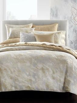Hotel Collection Metallic Stone King Duvet Cover Color Gold