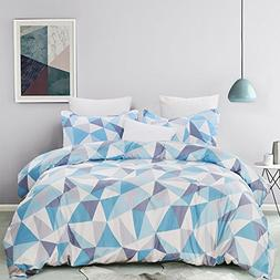 Vaulia Microfiber Duvet Cover Sets, Printed Diamond Pattern