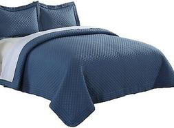 Lotus Home Microfiber Stain And Water Resistant Diamond Quil