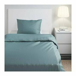 Nattjasmin Twin Duvet Cover Pillowcase Bedding Set Blue Stri