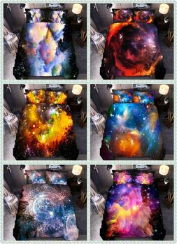 Nebula Galaxy Duvet Cover Set Outer Space Bedding Kids Teens