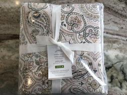 New Pottery Barn 350 TC Anya Sateen Blush Pink Paisley Full