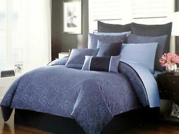 New Nautica Avondale Blue Twin Duvet Cover & Sham 2PC