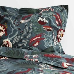 New IKEA FILODENDRON Twin Duvet cover and pillowcase, dark b