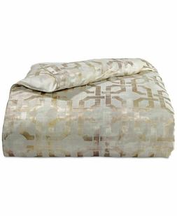 NEW Hotel Collection Fresco Gold QUEEN Duvet Cover MSRP $335