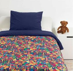 New IKEA LUSTIGT Kids Boys Twin Duvet Quilt Cover Pillow Cas