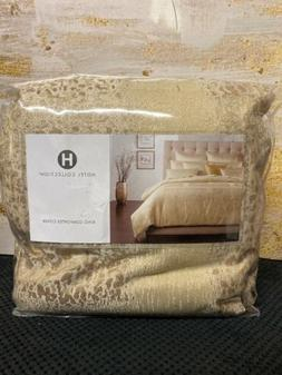 New Hotel Collection Patina GOLD King Duvet / Comforter Cove
