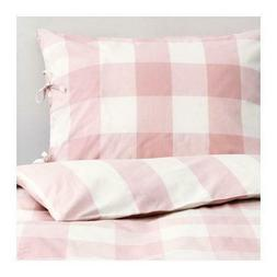 new twin emmie ruta pink gingham stripe