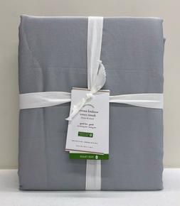 NEW Pottery Barn Washed Sateen KING Duvet Cover~Gray Mist