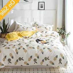 【Newest Arrival】Duvet Cover for Kids Pineapple Duvet Cov