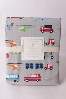 NWT Pottery Barn Kids Brody twin duvet cover cars trucks tra